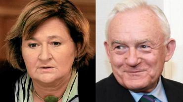 Magdalena Środa i Leszek Miller