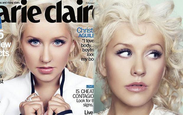 Christina Aguilera na okładce Marie Claire