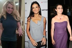 britney spears, demi moore, sinead o'connor