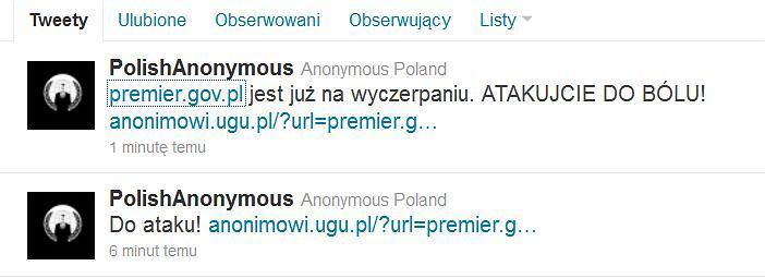 Anonimowi zachęcają internautów do przeprowadzania ataków