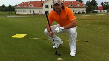 Tomasz Iwan na polu golfowym
