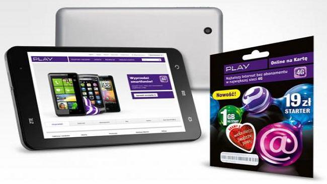 Play rusza z nową promocją. Tablet ZTE Light do wzięcia za 699 złotych