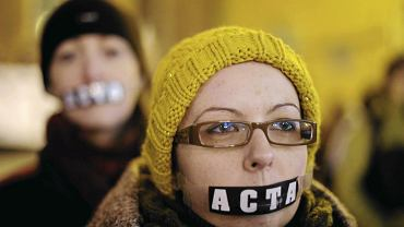 25.01.2012 Wrocław, manifestacja przeciw ACTA