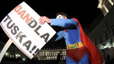 Protest przeciw ACTA pod Pałacem Prezydenckim