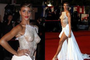 Co zrobić, żeby zwrócić na siebie uwagę w towarzystwie wielkich gwiazd? Gdy parcie na szkło jest bardzo silne można na przykład pokazać cycki. Tak zrobiła francuska piosenkarka Shy'm, która pojawiła się 28 stycznia na festiwalu NRJ Music Awards w Cannes. 26-latka wystąpiła na czerwonym dywanie w sukience, której góra wyglądała jak odlew jej klatki piersiowej. Po prostu cud, miód i orzeszki ;)