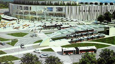 Koncepcja wyglądu nowego dworca PKP/PKS z galerią handlową