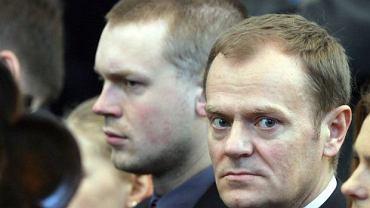 Donald Tusk z synem Michałem