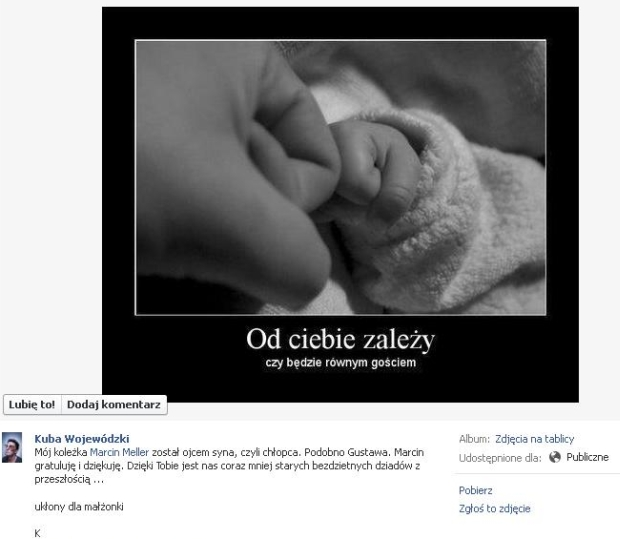 Kuba Wojewódzki, facebook, marcin meller