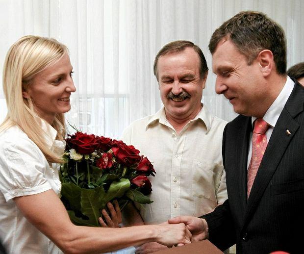 Anna Rogowska i Jacek Karnowski