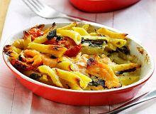Zapiekanka makaronowa z gorgonzolą i łososiem - ugotuj