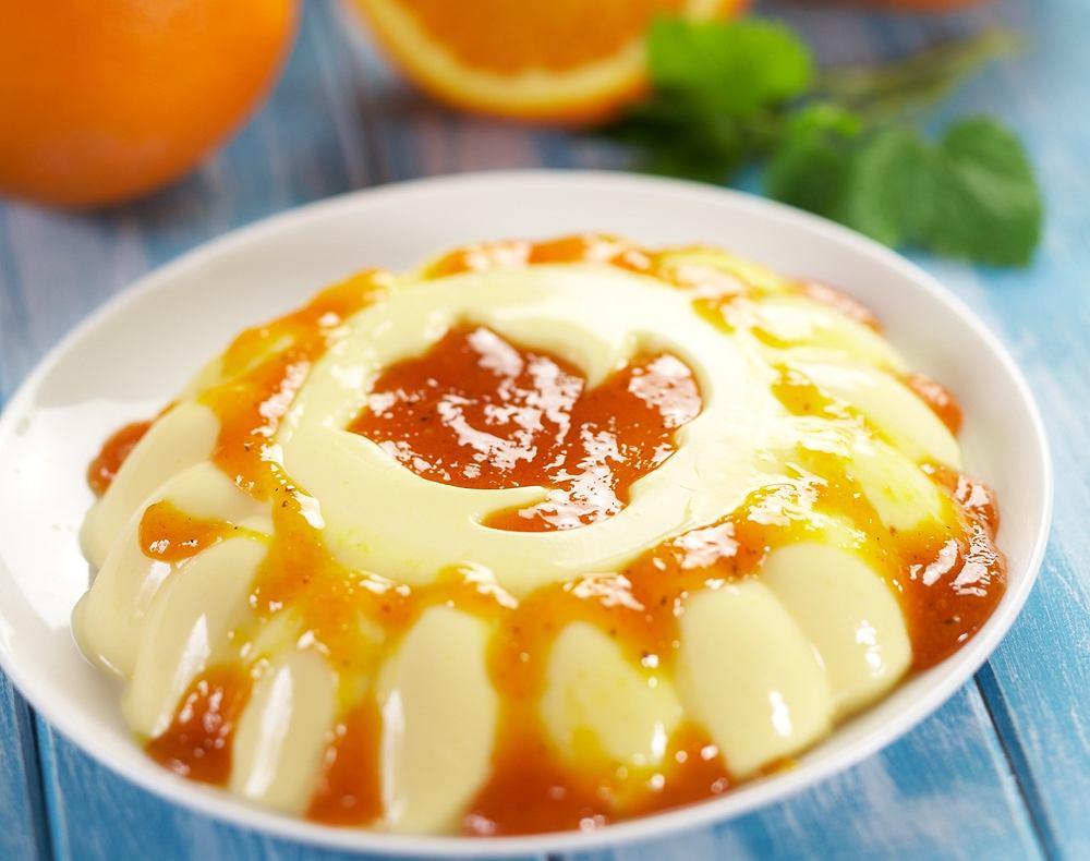 Jogurtowo-pomarańczowa panna cotta