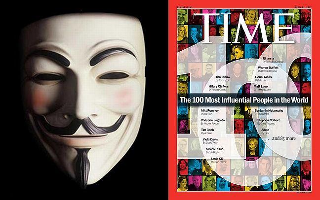 Anonimowi na liście 100 najbardziej wpływowych ludzi na świecie.