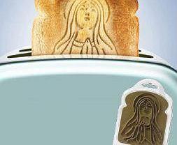 """Holy Toast! Czyli """"cudowny"""" tost z wizerunkiem Marki Boskiej."""