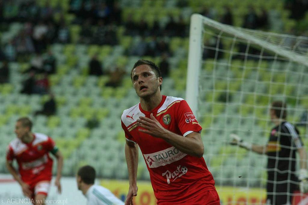 Łukasz Gikiewicz w meczu z Lechią strzelił gola