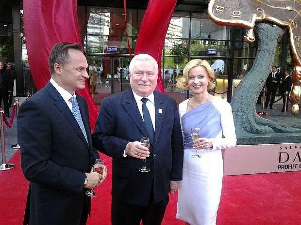 Lech Wałęsa na otwarciu Sky Tower