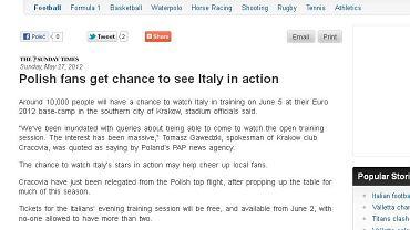 "Strona internetowa ""The Times of Malta"""