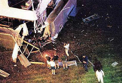 Park Olimpijski w Atlancie po wybuchu, rok 1996