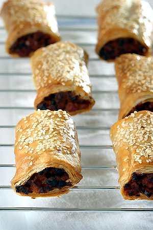 Saussage rolls (paszteciki z kiełbasą)
