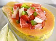 Sałatka z papają - ugotuj