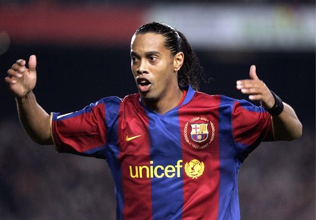 Ronaldinho w meczu z Realem