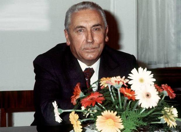 I Sekretarz PZPR Edward Gierek w 1977 r.