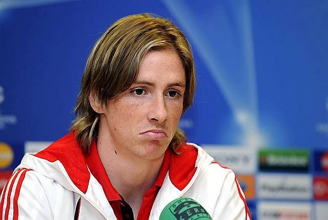 Fernando Torres z kwaśną miną