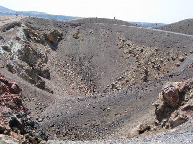 Kaldera wulkanu na Santorini