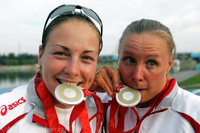 Aneta Konieczna (z prawej) i Beata Mikołajczyk podczas igrzysk w Pekinie