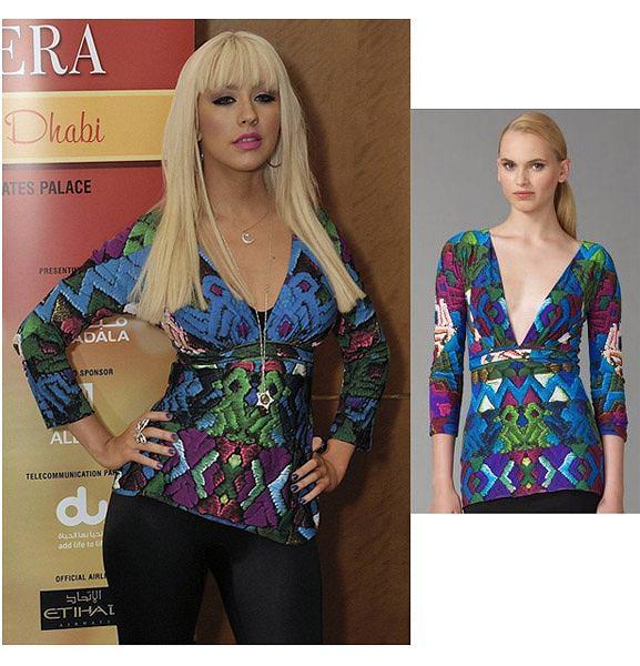 Christina Aguilera fot. AG/Saks Fifth Avenue