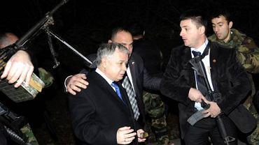 Prezydent tuż po strzelaninie w Gruzji w 2008 roku