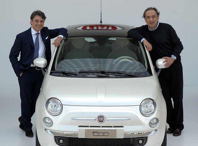 Luca De Meo, CEO Fiat Automobiles i Sergio Marchionne, CEO Fiat Group Automobiles przy Fiacie 500