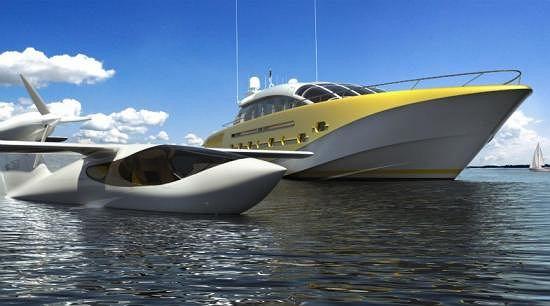 Awionetką do samego jachtu