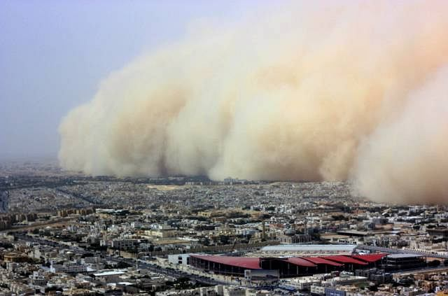 Tak wygląda burza piaskowa