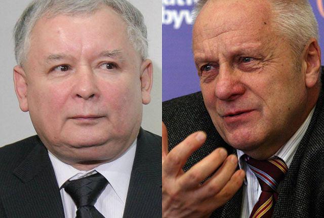Jarosław Kaczyński i Stefan Niesiołowski