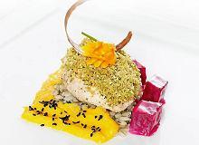 Kurczak w pierzynce pistacjowej na pęczaku - ugotuj