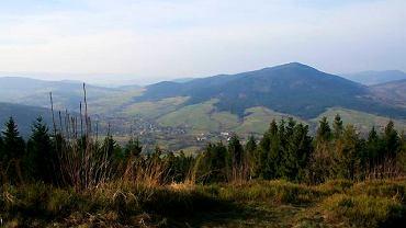 Panorama z wieży widokowej na Mogielnicy