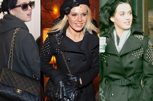Poznały się podczas gali MTV EMA - Katy Perry znana niemal na całym świecie i Doda znana jedynie w Polsce (chociaż kilka razy pisały o niej zagraniczne media). Okazuje się, że panie mają w swoich garderobach takie same ubrania, a konkretnie taki sam płaszczyk i torebkę Chanel. Która z nich lepiej nosi te rzeczy?