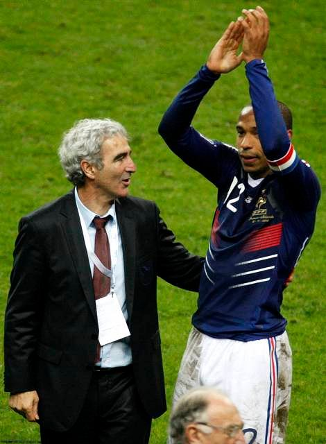 Raymond Domenech i Thierry Henry