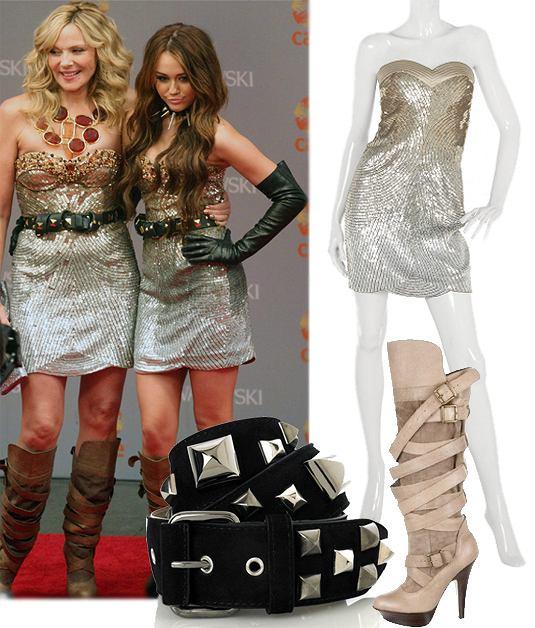 Miley Cyrus i Kim Cattrall fot. forum