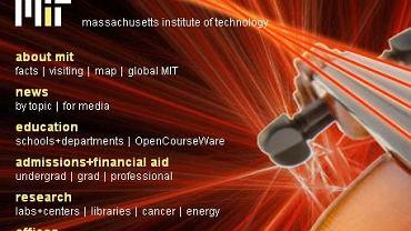 Fragment strony internetowej MIT