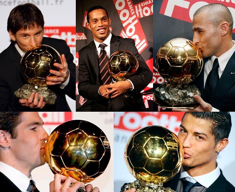 Zdobywcy Złotej Piłki: Leo Messi, Ronaldinho, Kaka, Fabio Cannavaro