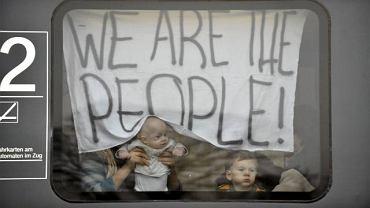 Uchodźcy twierdzili, że jada na manifestację. Wzięli jednak ze sobą dzieci i cały dobytek