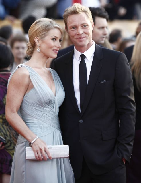 Christina Applegate, left, and guest arrive at the 16th Annual Screen Actors Guild Awards on Saturday, Jan. 23, 2010, in Los Angeles.  (AP Photo/Matt Sayles)