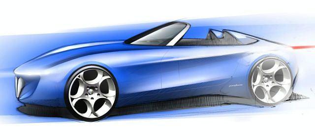 Alfa Romeo Spider Concept - pierwszy szkic