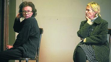 Joanna Szczepkowska i Małgorzata Braunek na próbie spektaklu w Teatrze Dramatycznym