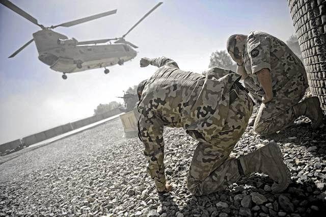 Afganistan, jedna z polskich baz - Warrior