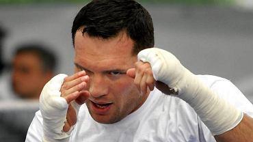Albert Sosnowski na treningu