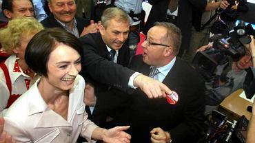 W sztabie Grzegorza Napieralskiego po ogłoszeniu sondażowych wyników wyborów