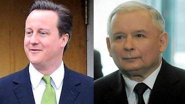 David Cameron i Jarosław Kaczyński