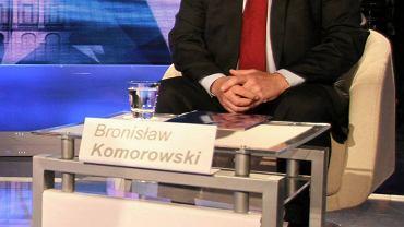 Bronisław Komorowski podczas niedzielnej debaty prezydenckiej